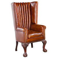 Victorian Leather Channel Back
