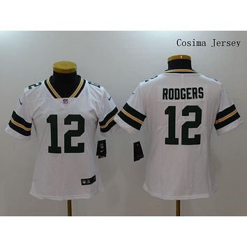 Danny Online Nike NFL Jersey Women's Vapor Untouchable Color Rush Green Bay Packers #12 Aaron Rodgers Football Jersey White