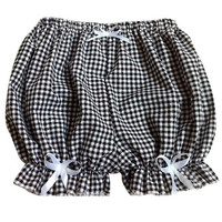 Plaid Mini Bloomer Style Shorts
