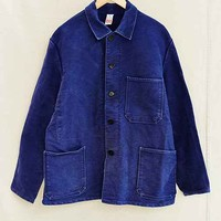 Vintage Blue Moleskin Work Jacket- Assorted One
