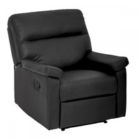 Recliner Chair Sofa Set Home Lounge with Padded Seat Backrest Black 024