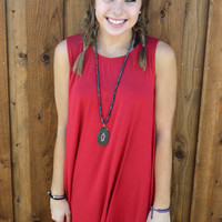 Game Day Tank Dress- Red