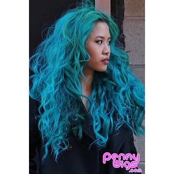 Tiruburu- Teal Invisible U-Part Wig (Pre-Order)