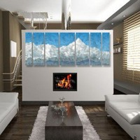 """All My Walls Abstract Mountain by Ash Carl Metal Wall Art - 23.5"""" x 60"""" - SWS00096"""