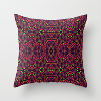 Electric Nights Throw Pillow by 2sweet4words