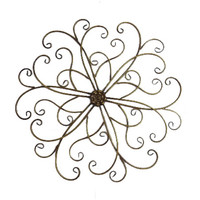 Scroll Metal Wall Home Decor