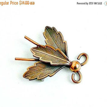 ON SALE Copper Bug Pin, Vintage Figural Brooch, Insect Pin, Vintage Copper Jewelry, Vintage Bug Jewelry.