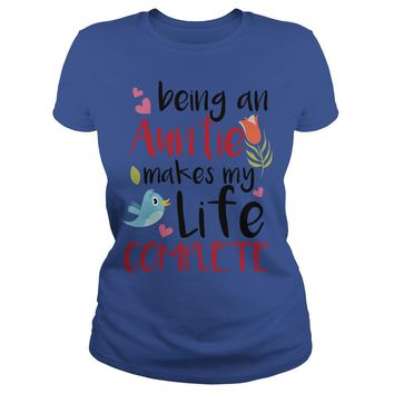 Being an aunt makes my life complete shirt Premium Fitted Ladies Tee