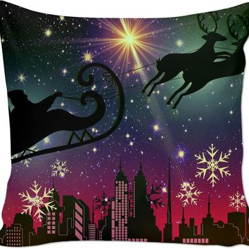 ROCP Silhouette Santa Christmas Pillow