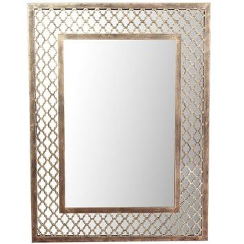 Godfrey Quatrefoil Golden Mirror