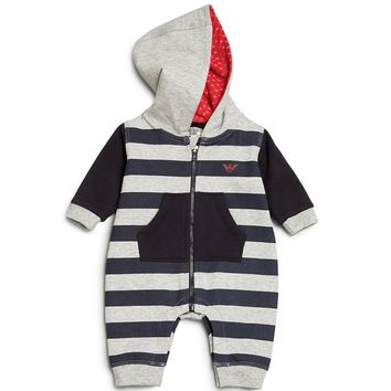 Armani Baby Boys Hooded Romper