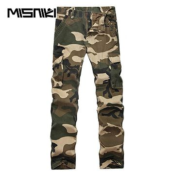 Spring Military Camouflage Cargo Pants Men Cotton Tactical Trousers Work Men Trousers Overalls