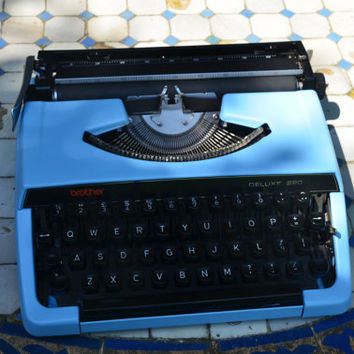 MADE TO ORDER - Custom made Blue brother 220 deluxe - Working Vintage Typewriter