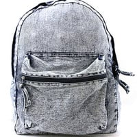 Icco Faded Denim Backpack