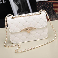 Women's PU Leather Messenger Handbag Shoulder Bag Totes Purse