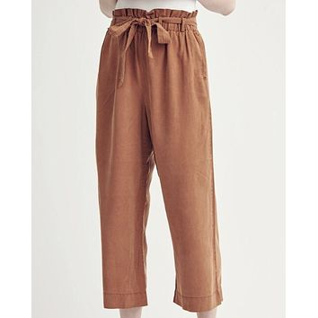 Washed Tie Crop Pant