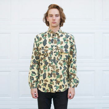 Vintage Duck Camo Button Up Shirt