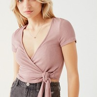 Project Social T Bailey Wrap Tee   Urban Outfitters