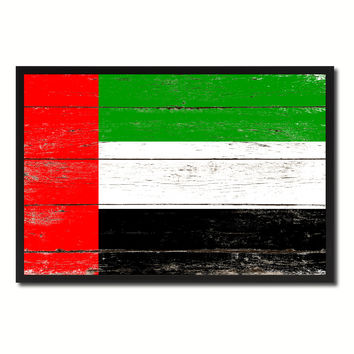 United Arab Emirates Country National Flag Vintage Canvas Print with Picture Frame Home Decor Wall Art Collection Gift Ideas