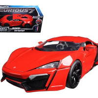 "Lykan Hypersport Red ""Fast & Furious 7"" Movie 1-18 Diecast Model Car by Jada"