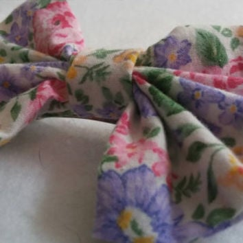 "Garden Party"" floral hair bow perfect for all ages"