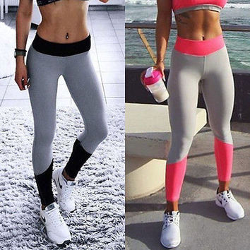 Women High Waist  Fitness Leggings  Stretch Sports Pants Trousers