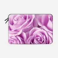 "Softly, Tenderly Lavender Macbook Pro 15"" sleeve by Lisa Argyropoulos 