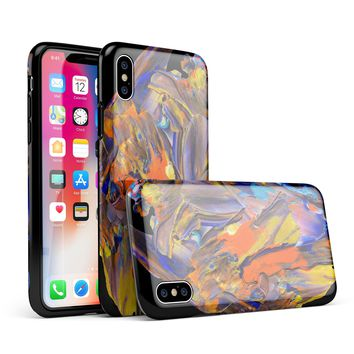 Liquid Abstract Paint V63 - iPhone X Swappable Hybrid Case