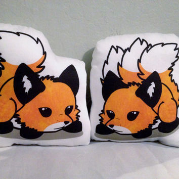 Double sided Fox or Kitsune Plushie - ready-to-ship