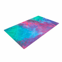 "NL Designs ""Bold Choice"" Teal Painting Woven Area Rug"