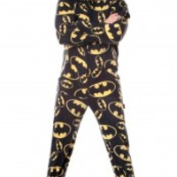 DC Comics Adult Footed Pajamas - Superman Batman Wonder Woman Flash Adult Footed Pajamas