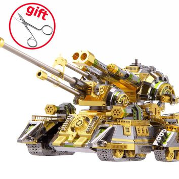 Piececool 3D Metal Puzzle Toy DIY Assembled Model Simulation Skynet Spider Superheavy Tank Puzzles Kids Toys Juguetes Gift