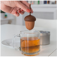 Echinacea Silicone Design Loose Tea Leaf Strainer Herbal Spice Infuser Filter Tools type filter tea accessories