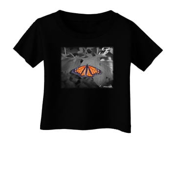 Monarch Butterfly Photo Infant T-Shirt Dark