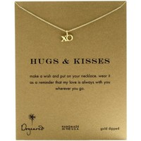 "Dogeared 16"" Gold Reminders Hug and Kisses XO Chain Necklace"