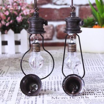 1pc  Retro Wind Chimes Lamp LED Iron Bell Hanging Decorations light Vintage
