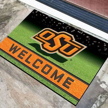 FANMATS Oklahoma State Cowboys Crumb Rubber Welcome Door Mat