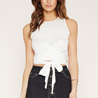 Contemporary Wrap Crop Top