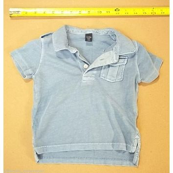 Baby Gap Boys Shirt Size 2 Years 24 Month Blue -- Used