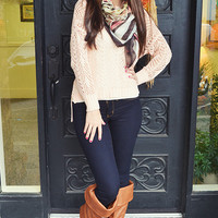Date Day Sweater: Pale Pink