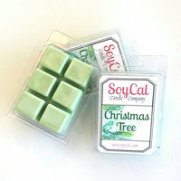 Christmas Tree - organic soy candles - soy wax tart - soy wax melt - wax melt warmer - organic wax melt - eco friendly wax tart