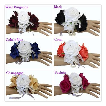 Keepsake Wrist corsage-Select rose color -Prom dance sweet 16 father daughter dance homecoming events