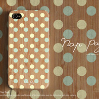apple iphone case : pastel polka dots on wood (not real wood) from nappage