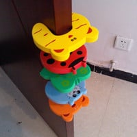 5pcs Baby Child Proofing Door Stoppers Finger Safety Guard