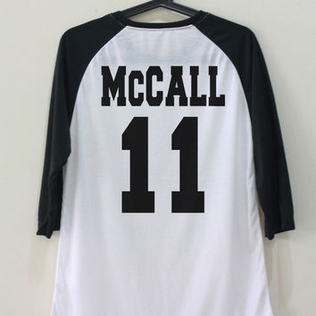 McCall 11 Shirt Teen Wolf TShirt Unisex T-Shirt Back Shirts Baseball Raglan Jersey Tee Long Sleeve Women Men Size S M L