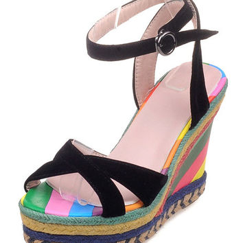 Carnival Wedge Sandal