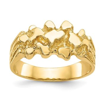 14K Yellow Gold Nugget Ring