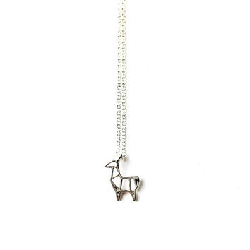 Silver Llama Necklace - Llama Jewelry, Llama Jewellery, Minimalist Necklace, Charm Necklace, Dainty Jewellery, Short Necklace, Tiny Necklace
