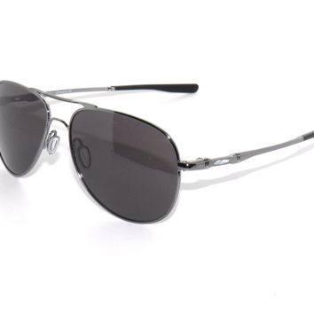 CLEARANCE~OAKLEY SUNGLASSES ELMONT L 4119-01 60 GUNMETAL/WARM GRAY