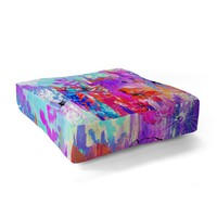 Holly Sharpe Summer Rain Floor Pillow Square